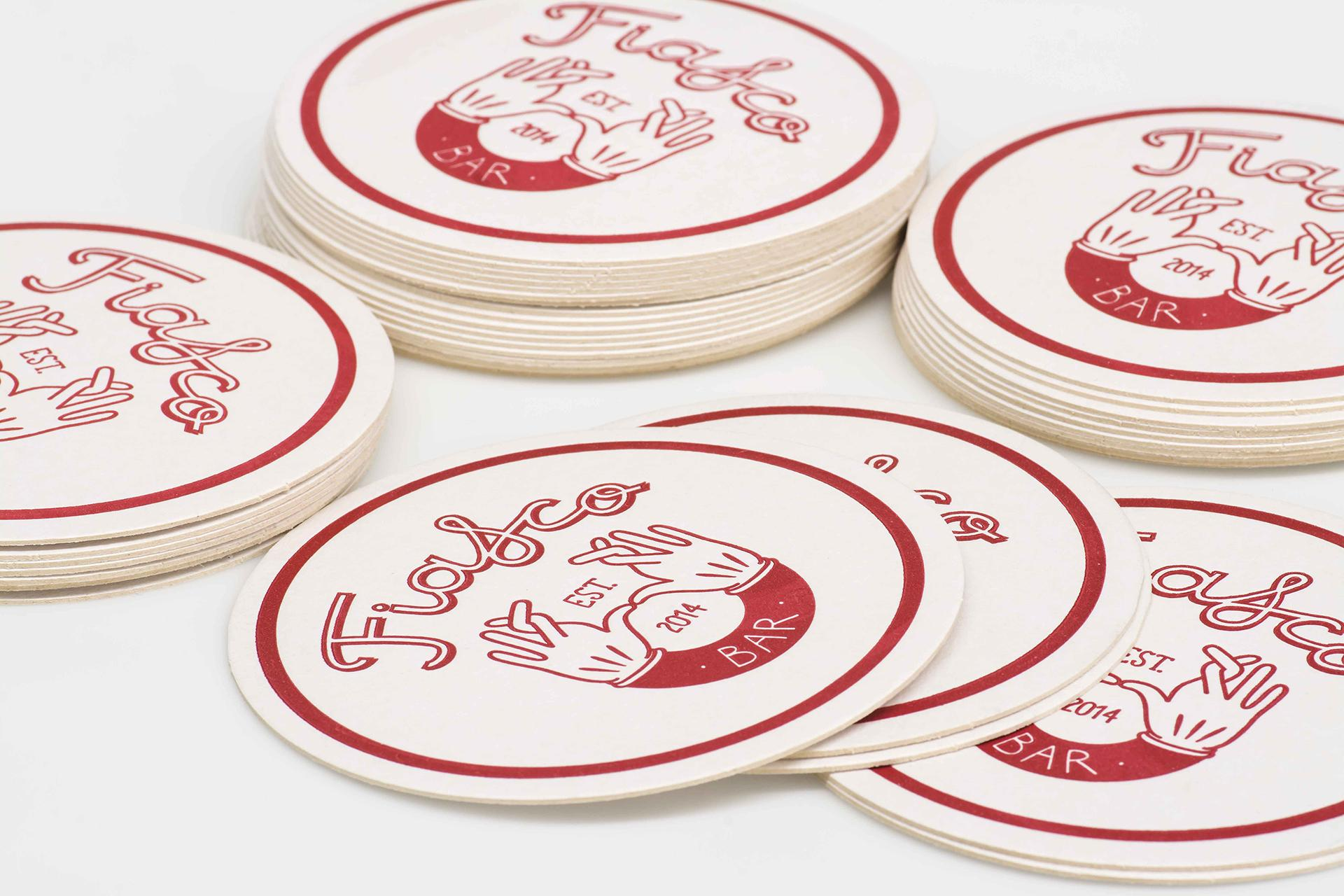 Fiasco bar coasters