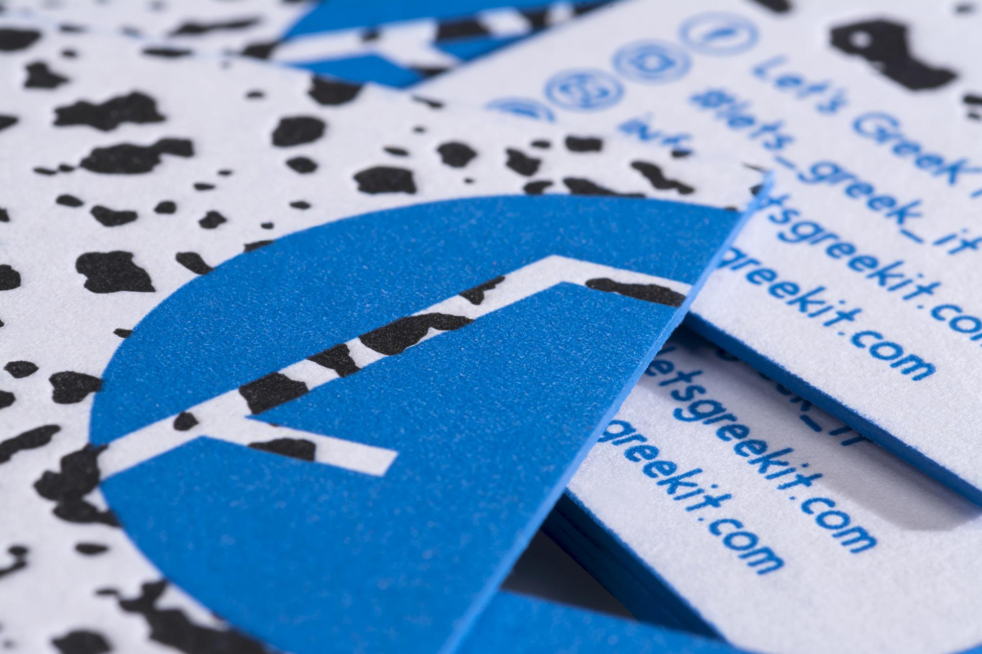 Let's Greek it business cards