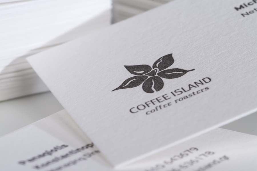Coffee Island business cards
